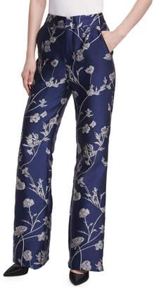 Johanna Ortiz Arina Metallic Jacquard Pants