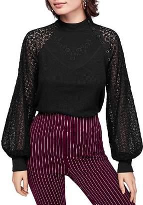 Free People Sweetest Thing Crochet-Sleeve Top