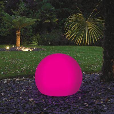 Litecraft Pink CFL 60cm Illuminated Decorative Ball Light