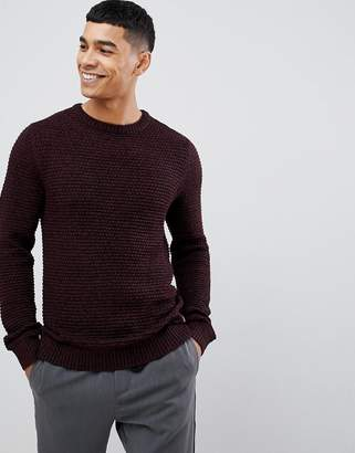 Jack and Jones Originals Knitted Sweater With Mixed Yarn Detail