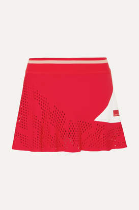 adidas by Stella McCartney Perforated Stretch Tennis Skirt - Red