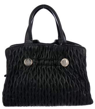Bvlgari Ruched Leather Handle Bag