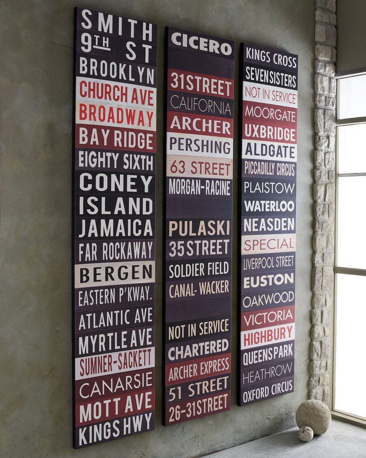 Horchow Subway Sign Giclees