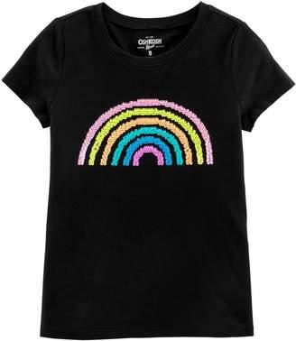 Osh Kosh Oshkosh Bgosh Girls 4-12 Reversible Sequin Rainbow Tee