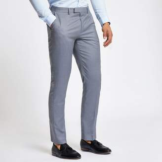 River Island Mens Light Blue slim fit suit trousers