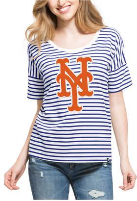 '47 Brand Women's New York Mets Coed Stripe T-Shirt $45 thestylecure.com