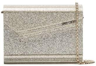 Jimmy Choo metallic Candy glitter clutch bag