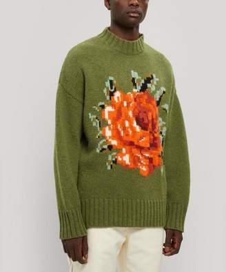 Ami Oversized Wool Flower Knit Jumper