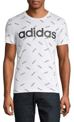 adidas Slim-Fit Graphic Cotton Tee