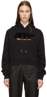 Off-White Off White Black Modern Obstacles Crop Hoodie