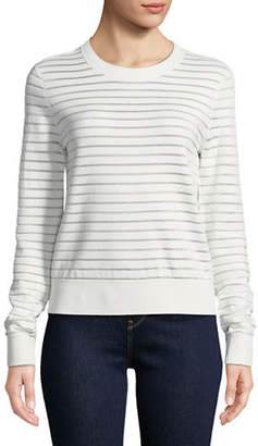 Diane von Furstenberg Striped Round Neck Sweater