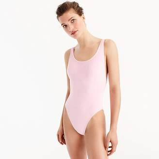 J.Crew Plunging scoopback one-piece swimsuit in terry
