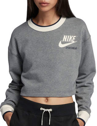 Nike Reversible Sportswear Fleece Crop Top