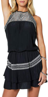 Ramy Brook Brent Embroidered Short Dress