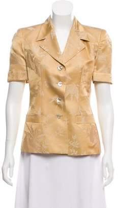 Fendi Silk Short Sleeve Blazer