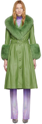 Saks Potts Green Foxy Coat
