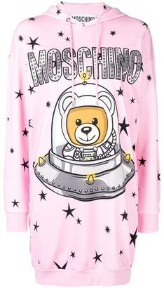 Moschino Space Teddie hoodie dress