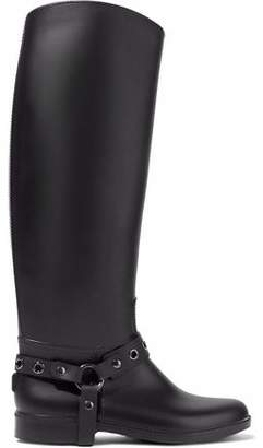 RED Valentino Eyelet-Embellished Rubber Rain Boots