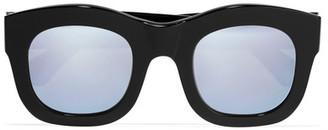 Illesteva - Hamilton Square-frame Acetate Mirrored Sunglasses - Black $290 thestylecure.com