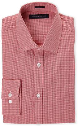 Tommy Hilfiger Red Slim Fit Gingham Dress Shirt