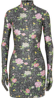 Vetements Printed Jersey Mini Dress - Black