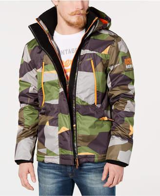 Superdry Men Hooded Polar Wind Attacker Colorblock Camo Jacket