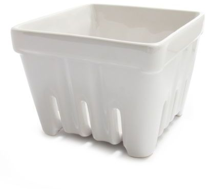Sur La Table White Stoneware Berry Basket