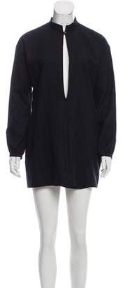 Saint Laurent Long Sleeve Wool Dress