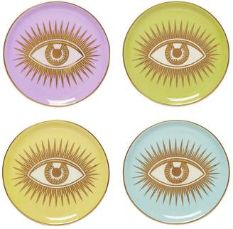 Jonathan Adler Le Wink Set Of 4 Porcelain Coasters