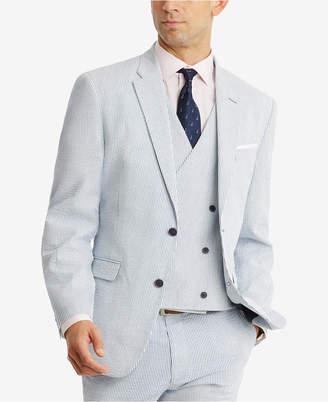 Tommy Hilfiger Men's Modern-Fit THFlex Stretch Blue/White Stripe Seersucker Suit Jacket