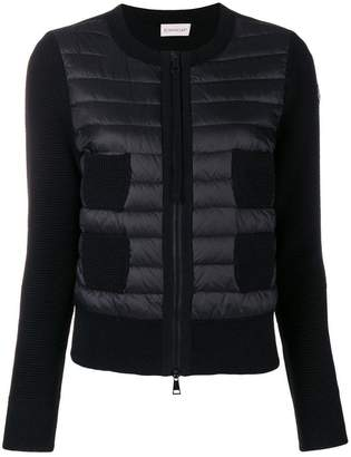 Moncler padded zip front cardigan