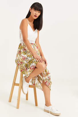Ardene Lace Maxi Dress with Floral Skirt