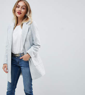 Asos DESIGN Petite slim coat in texture