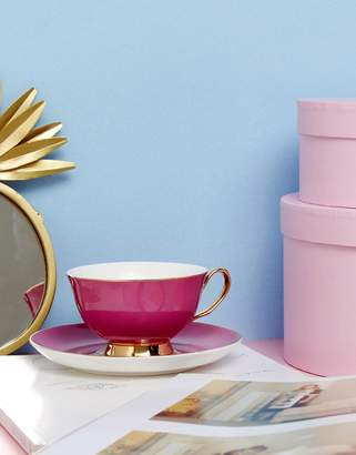 bombay duck Tea Cup and Saucer Set in Pink