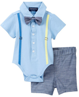 Andy & Evan Polo Shirtzie & Woven Short Set (Baby Boys) $49 thestylecure.com
