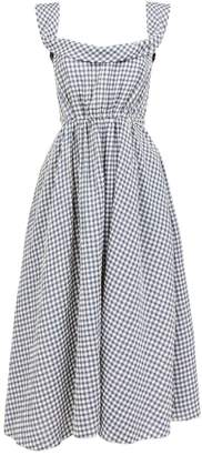 Brock Collection Patti Gingham Belted Dress