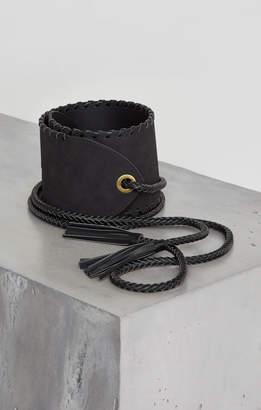 BCBGMAXAZRIA Faux Suede Wrap Belt