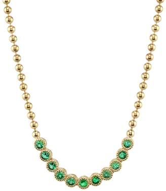 ARK Fine Jewelry Emerald Stone Bead Necklace