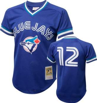 Mitchell & Ness Mitchell and Ness 1993 Roberto Alomar Blue Jays Mens BP Jersey in Blue