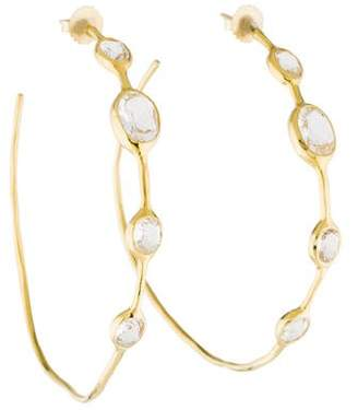 Ippolita 18K Quartz Rock Candy Hoop Earrings