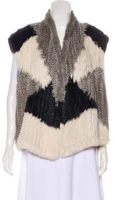 Vince Fur Colorblock Vest