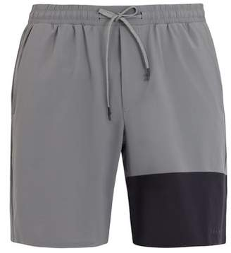 Falke Ess - Lightweight Contrast Panel Shorts - Mens - Grey Multi