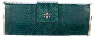Tory Burch Embossed Roll Clutch