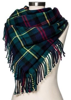 Merona Women's Blanket Scarf Classic Navy Plaid - Merona $19.99 thestylecure.com