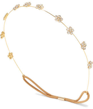 Jennifer Behr Viv Gold-tone Crystal Headband