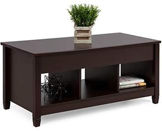 Best Choice Products Home Lift Top Coffee Table Modern Furniture W/Hidden Compartment And Lift Tabletop - Espresso