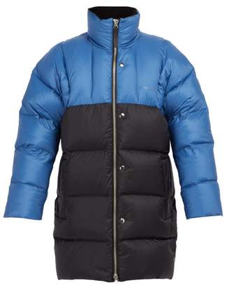 Acne Studios Oversized Down Filled Coat - Mens - Blue
