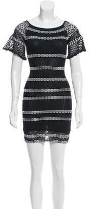 Ronny Kobo Open Knit Mini Dress w/ Tags