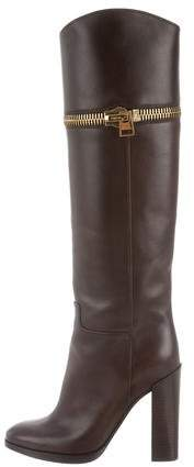 Tom Ford Leather Zip Boots