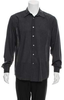 John Varvatos Gingham Button-Up Shirt